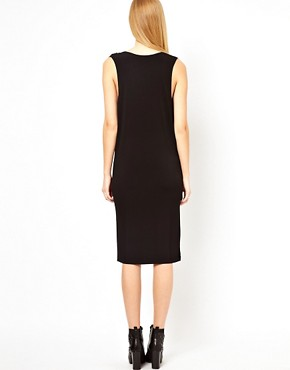 Image 2 ofFactory By Erik Hart Jersey Dress with Cowl Neck