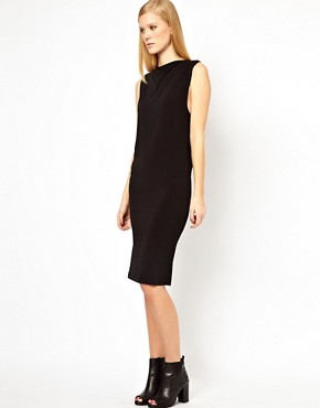 Image 4 ofFactory By Erik Hart Jersey Dress with Cowl Neck