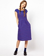 People Tree Indian Stripe Sweetheart Dress by Artisan Hut Bangladesh