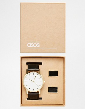ASOS Watch And Cufflink Gift Set