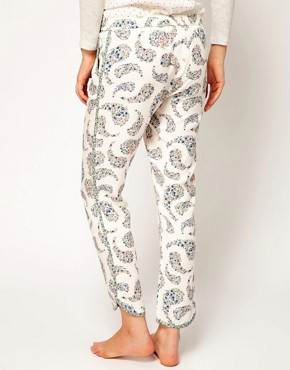 Image 2 ofOysho Floral Paisley Print Harem Lounge Pant