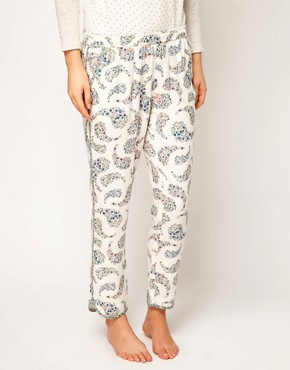 Image 4 ofOysho Floral Paisley Print Harem Lounge Pant