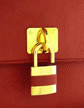 Image 4 ofASOS Front Padlock Bowler Bag