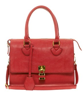 Image 1 ofASOS Front Padlock Bowler Bag
