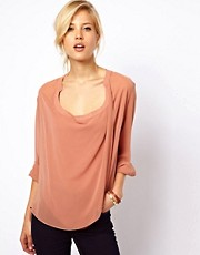 ASOS Blouse With Detail Front And Drop Neck
