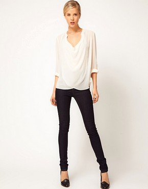 Image 4 ofASOS Blouse With Detail Front And Drop Neck
