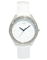 Guess - Puffy G - Orologio da donna con cinturino in pelle e quadrante rotondo