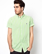 Polo Ralph Lauren Shirt in Custom Fit Short Sleeve Stripe