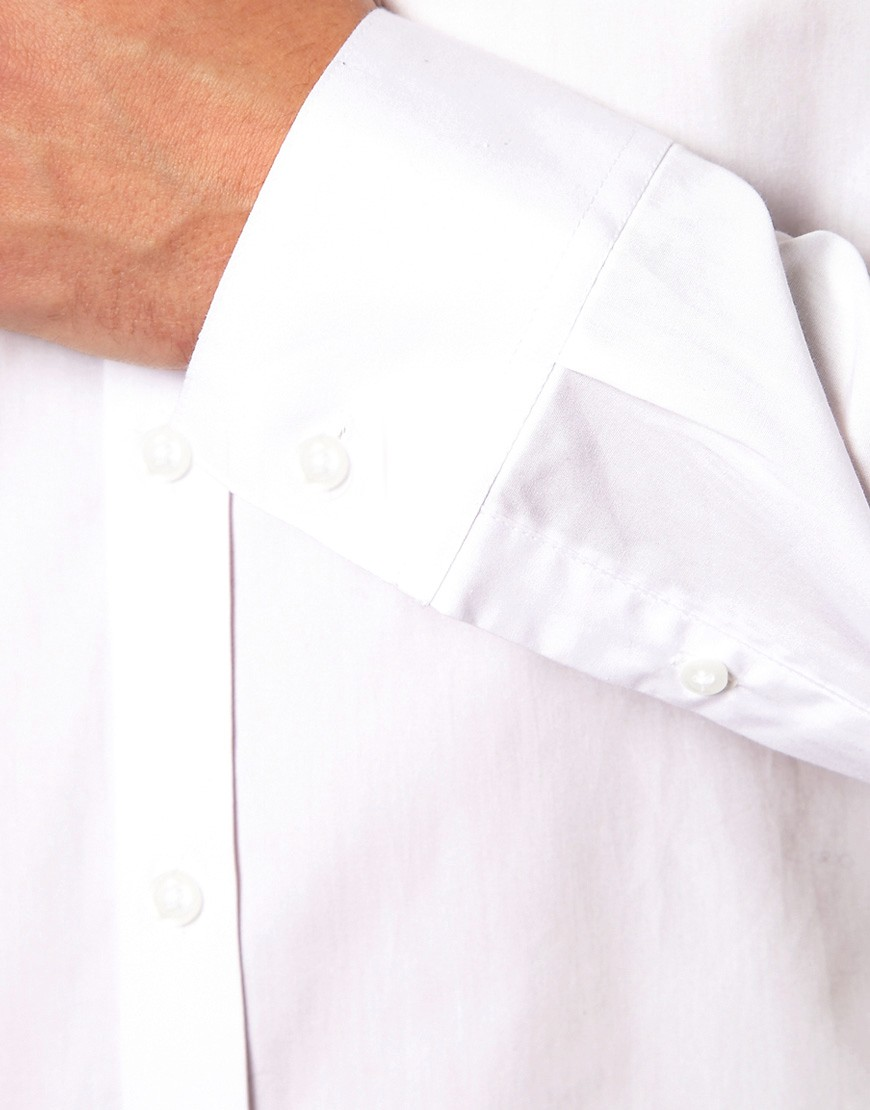 Image 3 of ASOS Smart Shirt With Button Down Collar