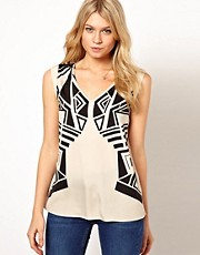 Oasis Aztec Print T-Shirt