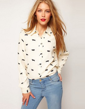 Image 1 ofASOS Shirt With Raccoon Print