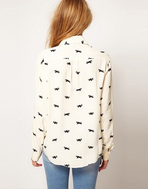 Image 2 ofASOS Shirt With Raccoon Print
