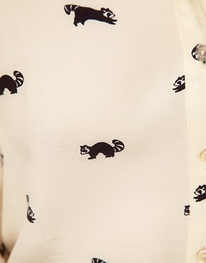 Image 3 ofASOS Shirt With Raccoon Print