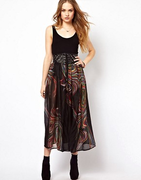 Image 1 ofJovonnista Maxi Skirt With Studs
