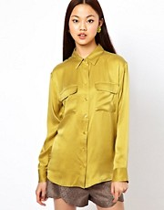 Equipment Silk Gold Signature Shirt