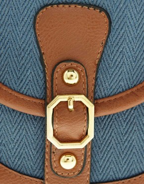 Image 4 of Pieces Earla Plain Canvas Cross Over Bag