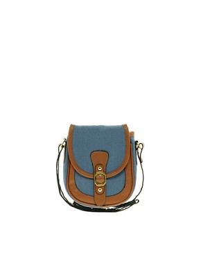 Image 1 of Pieces Earla Plain Canvas Cross Over Bag