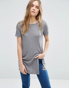 ASOS Longline Top With Front Split
