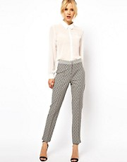 ASOS Skinny Pants In Geo Floral Jacquard