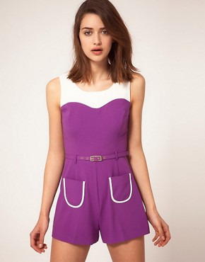 Image 1 ofRiver Island Colour Block Playsuit
