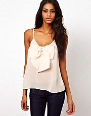 ASOS Cami With Pearl Detail Bow Front
