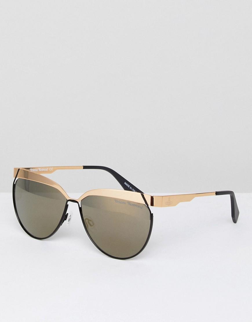 Солнцезащитные очки кошачий глаз Vivienne Westwood - Золотой VIVIENNE WESTWOOD ANGLOMANIA