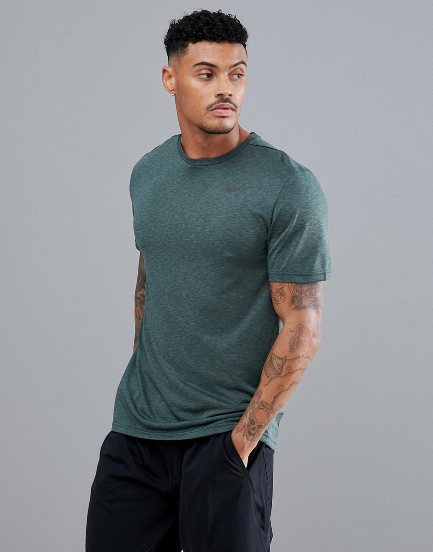 Nike Training Pro HyperDry T-Shirt In Khaki 832835-372 - Green