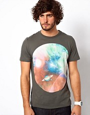 Paul Smith Jeans T-Shirt with Solar System Print