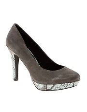Pieces Ashley Suede Snake Pump