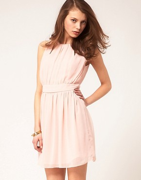 Image 1 ofASOS Mini Dress With Grecian Detail