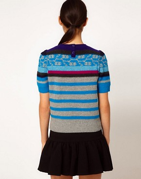 Image 2 ofSonia by Sonia Rykiel Short Sleeve Fairisle Knit