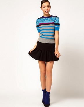 Image 4 ofSonia by Sonia Rykiel Short Sleeve Fairisle Knit