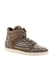 Ash Zest Bis Studded High Top Trainers