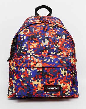 Eastpak Padded Pak'r in Navy Hexagon Print