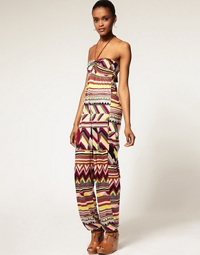 Image 1 ofM Missoni Jersey Rope Tie Bandeau Jumpsuit