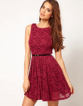 Image 1 ofTFNC Skater Dress in Lace