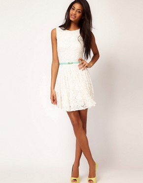 Image 4 ofTFNC Skater Dress in Lace