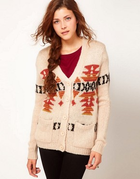 Image 1 ofGlamorous Intarsia Longline Cardigan