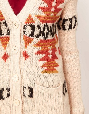 Image 3 ofGlamorous Intarsia Longline Cardigan