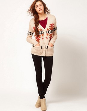Image 4 ofGlamorous Intarsia Longline Cardigan