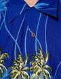 Image 3 of Karmakula Parrot Scene Blue Hawaiian Shirt
