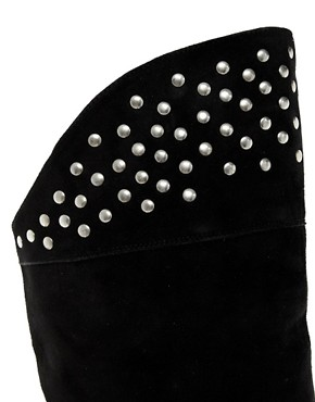 Image 3 ofASOS KELLY Studded Suede Over The Knee Boots