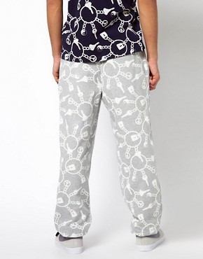 Image 2 ofKidda Christopher Shannon Trousers with Keyring Print