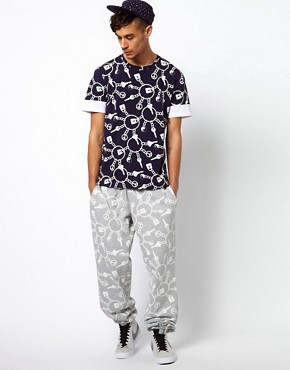 Image 4 ofKidda Christopher Shannon Trousers with Keyring Print