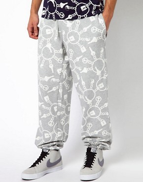Image 1 ofKidda Christopher Shannon Trousers with Keyring Print