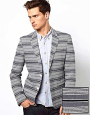 ASOS - Blazer a righe slim fit