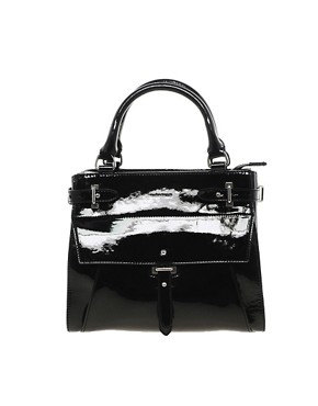 Image 1 ofKaren Millen Leather Strap And Keeper Small Tote