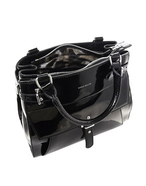 Image 2 ofKaren Millen Leather Strap And Keeper Small Tote