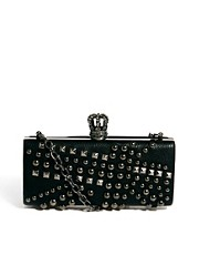 Religion Union Jack Studded Hard Clutch Bag