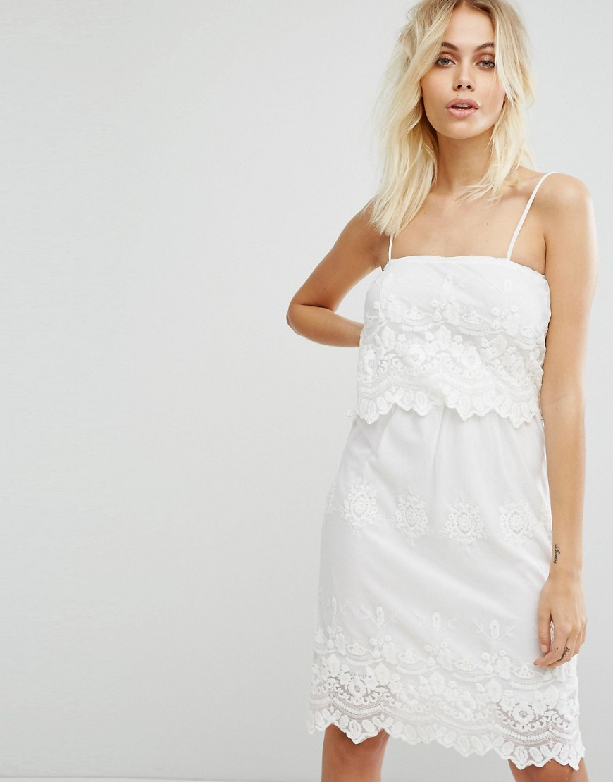 Glamorous Broderie Dress - Cream